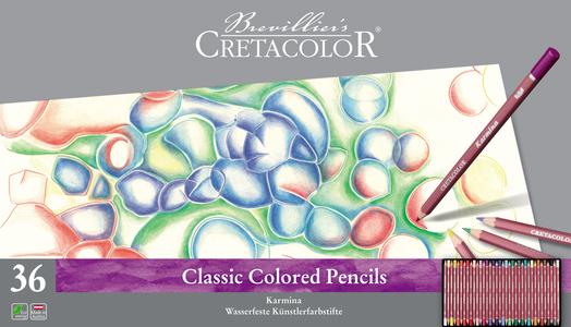 """Набор профессиональных цветных карандашей """"KARMINA"""", 36 цветов в металлической коробке с картонной обложкой"""