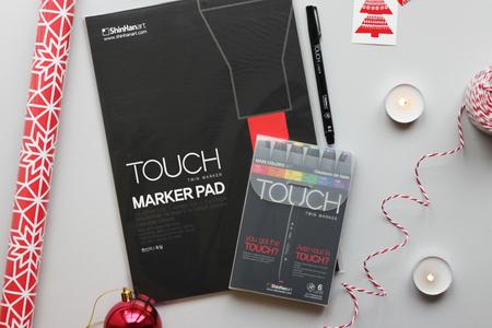 Набор TOUCH TWIN 6 цветов + Линер TOUCH + Альбом Touch для маркеров A4