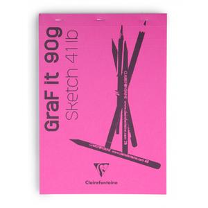 Блокнот GRAFT IT (Склейка, перфорация) Для сухих техник (А4, 90г, 80л) Розовый