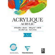Альбом ACRYLIC (Склейка). Для акрила. (A4, 360г, 10л)