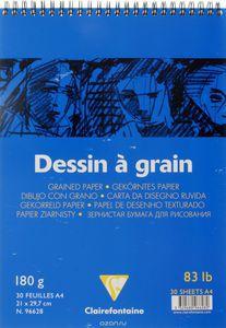 Блокнот DESSIN GRAIN (Спираль) Для рисования. (А3, 180г, 30л) Белый зернистый