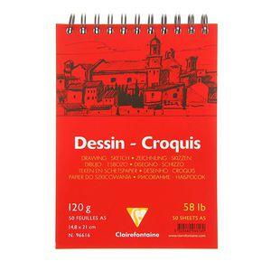 Блокнот DESSIN CROQUIS (Спираль) Для сухих техник (А4, 120г, 50л) Белый