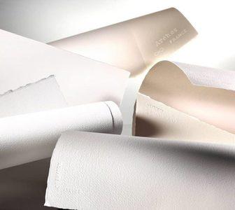 Набор из 15 видов хлопковой бумаги для акварели формата 28х38 см