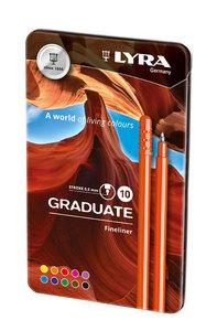 LYRA GRADUATE FINE LINER Цветные линеры 10 цв.