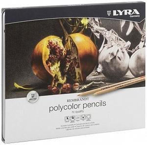 REMBRANDT POLYCOLOR Художественные цветные карандаши, 24 цв в метал коробке