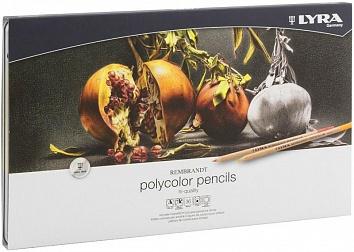 REMBRANDT POLYCOLOR Художественные цветные карандаши, 36 цв в метал коробке