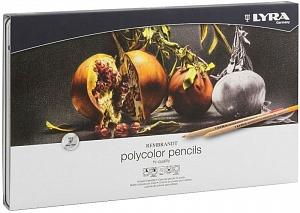 REMBRANDT POLYCOLOR Художественные цветные карандаши, 72 цв в метал коробке