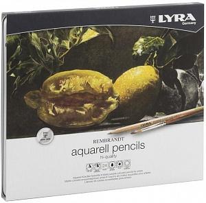 REMBRANDT AQUARELL Художественные карандаши акварельные 24 цв в метал коробке