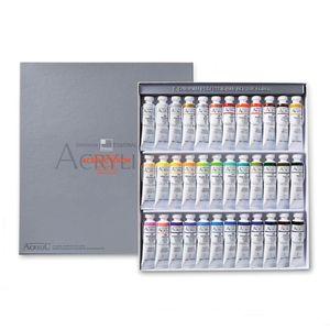 Набор акриловых красок 36 цветов Shinhan PRO ACRYLIC COLOR TUBE, в тубах по 20 мл