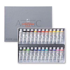 Набор акриловых красок 24 цвета Shinhan PRO ACRYLIC COLOR TUBE, в тубах по 20 мл
