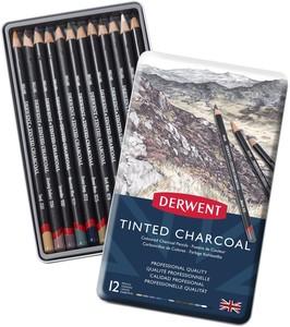 Набор угольных карандашей Tinted Charcoal 12шт в метал.упак