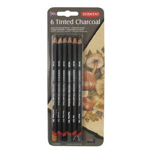 Набор угольных карандашей Tinted Charcoal 6шт в блистере