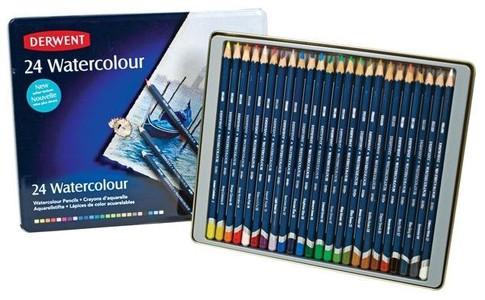Набор акварельных карандашей Watercolour 24цв в метал.упак