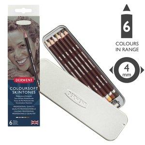 Набор цветных карандашей Coloursoft 6цв оттенки кожи в блистере
