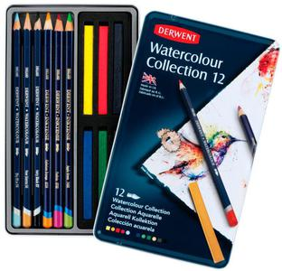 Набор карандашей Watercolour Collection 12цв в метал.упак