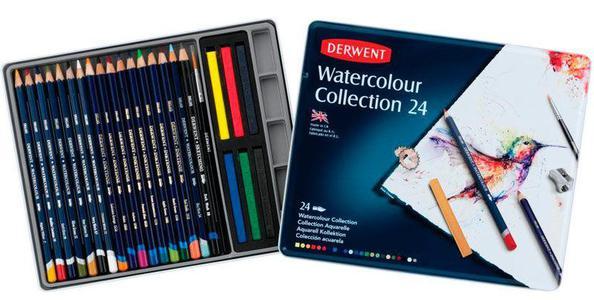 Набор карандашей Watercolour Collection 24цв в метал.упак