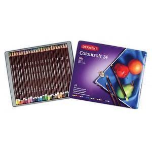 Набор цветных карандашей Coloursoft 24цв в метал.упак