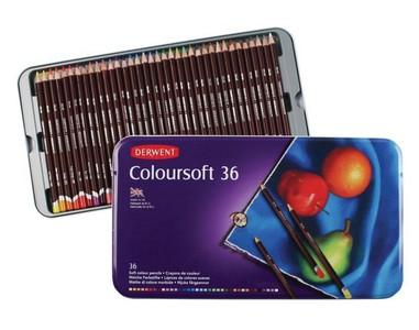 Набор цветных карандашей Coloursoft 36цв в метал.упак