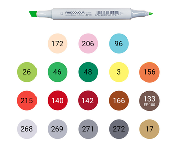 Набор для курса HIGHLIGHTS, 18 маркеров Finecolour Junior