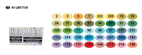 Набор Finecolour Sketchmarker 60 цветов