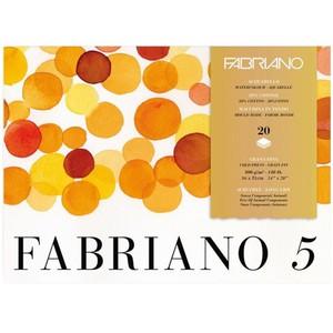 """Блок для акварели FABRIANO """"5"""", 300г/м2, 36x51см, Фин, склейка 20 листов"""