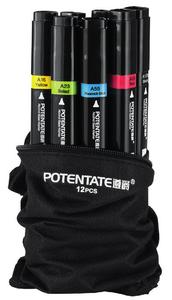 набор маркеров Potentate Bag Set 12 цветов (спиртовые)