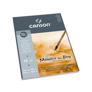 Альбом для акварели Moulin du Roy 300г/м.кв 24*32см 12л Торшон (крупное зерно) склейка по короткой стороне