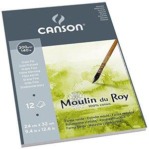 Альбом для акварели Moulin du Roy 300г/м.кв 24*32см 12л Фин склейка по короткой стороне