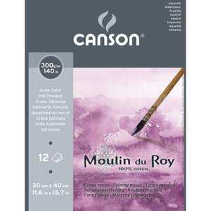 Альбом для акварели Moulin du Roy 300г/м.кв 30*40см 12л Сатин склейка по короткой стороне