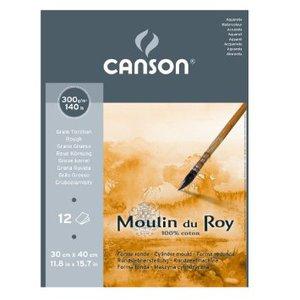 Альбом для акварели Moulin du Roy 300г/м.кв 30*40см 12л Торшон склейка по короткой стороне