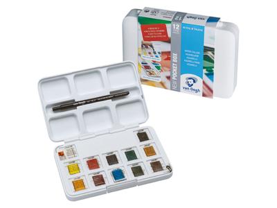 Набор акварельных красок Van Gogh 12цв кювета пластиковый короб