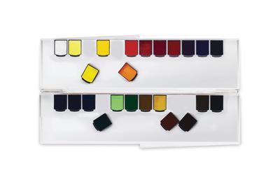 Набор акварели Mijello Mission Gold Class (Artist grade) 24 цвета в кюветах, палитра из поликарбоната