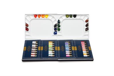 Набор акварели Mijello Mission Gold Class (Artist grade) 36 цветов в тубах по 7мл, большая пластиковая палитра в комплекте