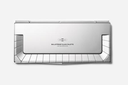 Палитра для акварели Mijello Bulletproof Glass 36 ячеек, полностью из поликарбоната, устойчивого к повреждениям и окрашиванию
