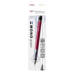 MONO Graph blister карандаш мех. 0,5 мм красный корпус (блистер)