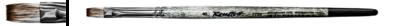 Кисть синтетика плоская №12 имитация мангуста, на короткой ручке