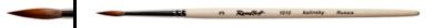 Кисть колонок круглая 1 на короткой ручке, покрытой лаком Серия 1010