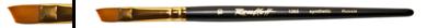 Кисть синтетика наклон 10 на кортокой ручке матовая, с укороченной вставкой Серия 1365