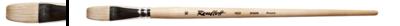 Кисть щетина плоская 14 на длинной ручке покрытой лаком Серия 1622