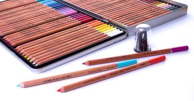 """Пастельный карандаш """"FINE ART PASTEL"""", круглый корпус диаметром 7,5 мм, грифель из натуральной пастели диаметром 3,8 мм, цвет 227 Серый зелёный"""